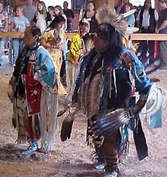 Head Lady & Head Man at the 2006 Gathering Pow-wow